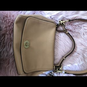 Coach Sand Leather Shoulder Bag